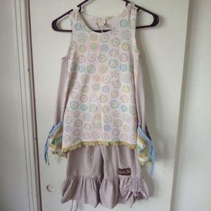 Matilda Jane girls pants top size 10